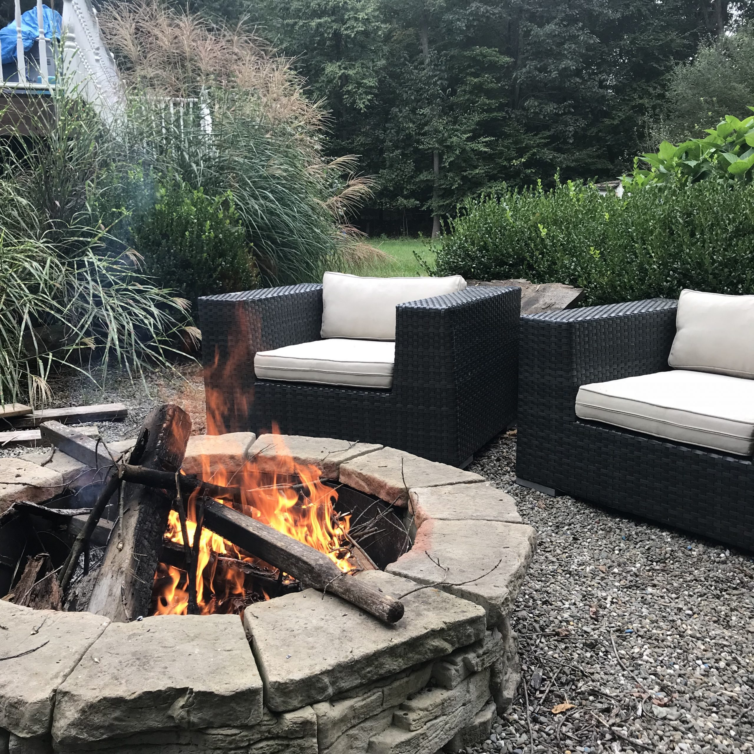 Gravel Patio and Fire Pits