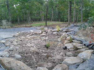 Step-4-pond-rock-and-graveled